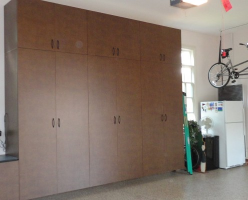 double stacked garage cabinets
