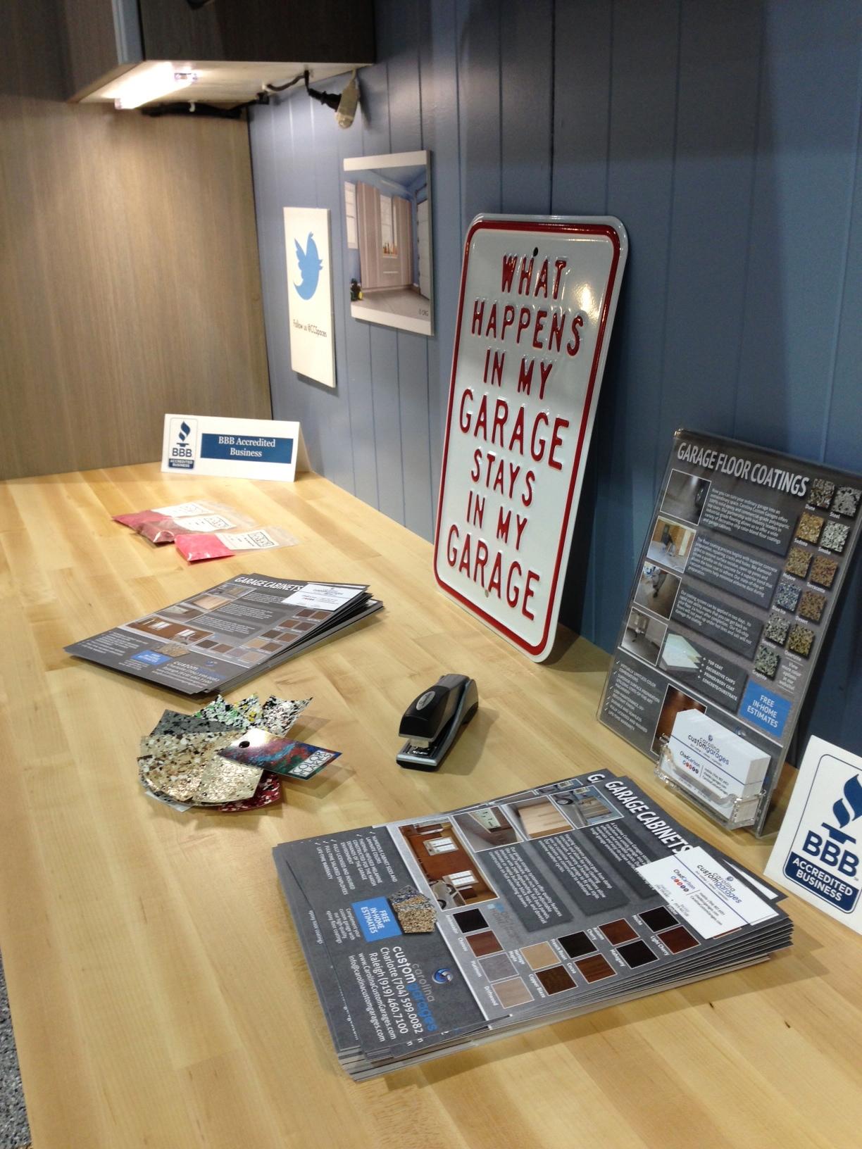 Garage cabinet booth image