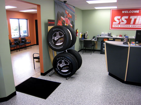 commercial flooring tire shop