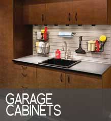 garage cabinets button