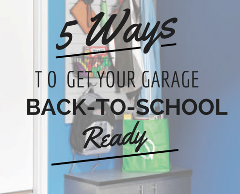 5 ways to get garage back to school ready