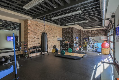 Contemporary home gym via Houzz