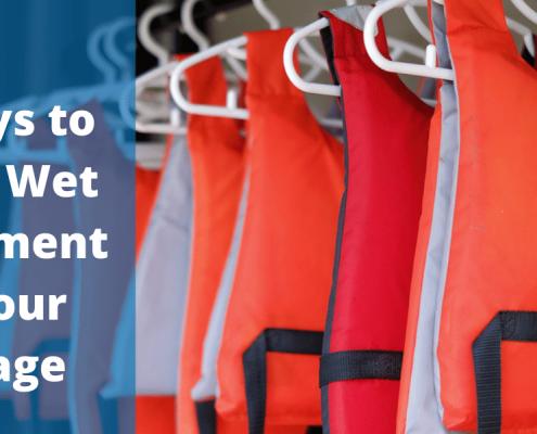 ways to store wet equipment in garage
