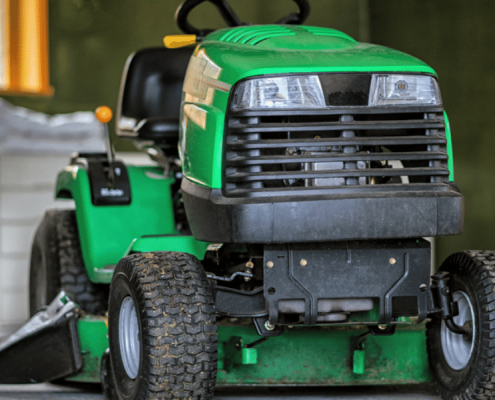 how to store power equipment in garage